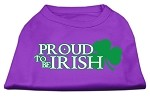 Proud to be Irish Screen Print Shirt Purple XL